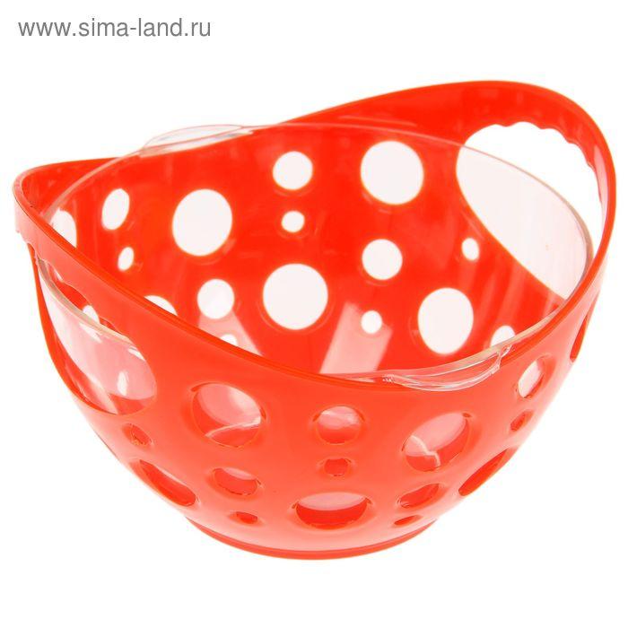 Конфетница с чашей 500 мл, цвет оранжевый