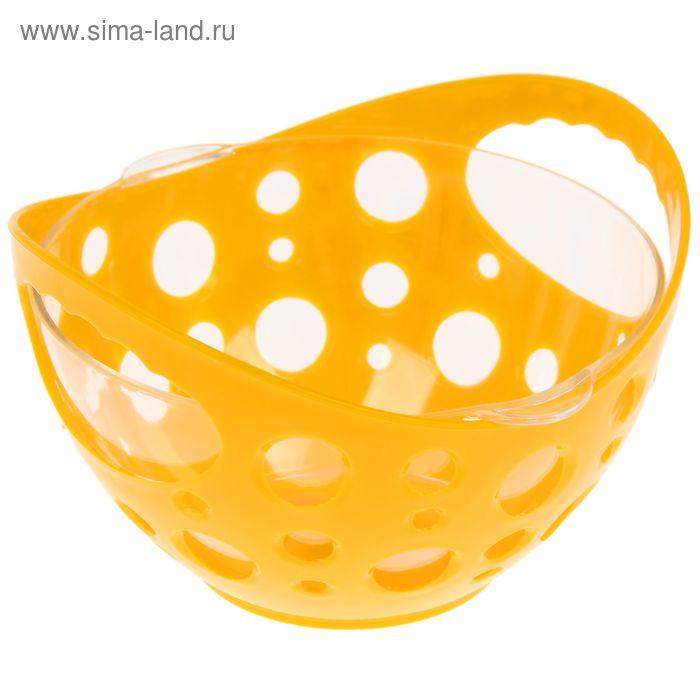 Конфетница с чашей 500 мл, цвет желтый