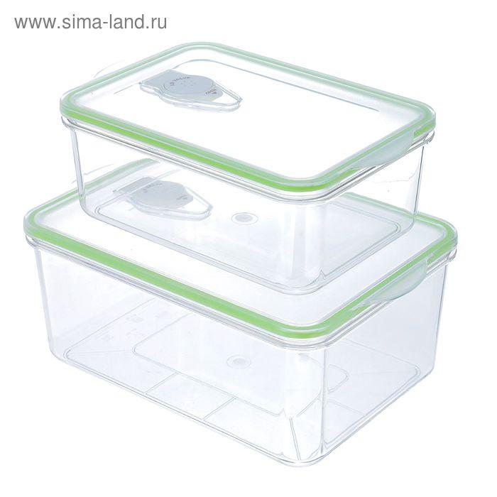 Набор контейнеров для вакууматора Kitfort RN-1500-01: 1.3 л, 2.6 л