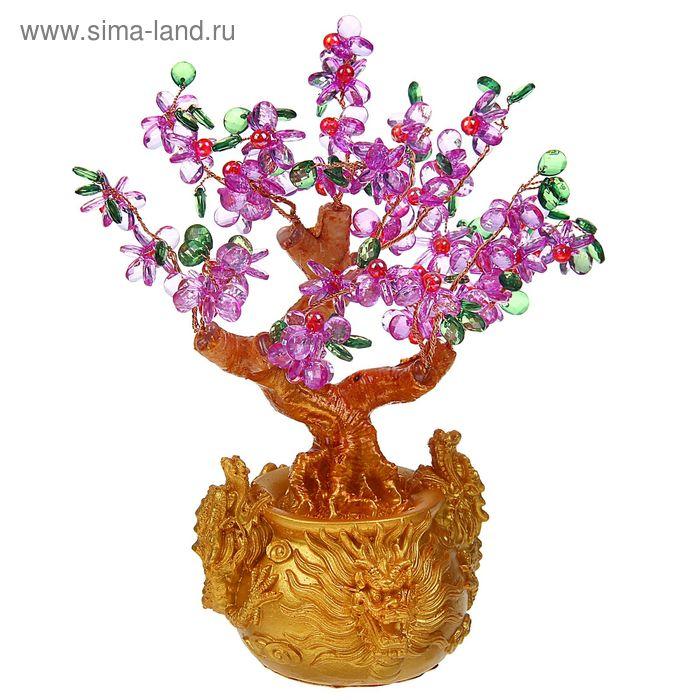 """Сувенир """"Дерево с цветами в рельефном горшке"""""""
