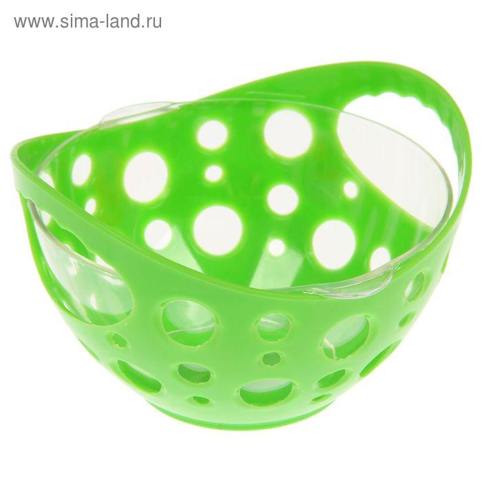 Конфетница с чашей 500 мл, цвет зеленый
