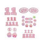 """Набор для декорирования праздника """"День рождения"""", для девочки, 30 предметов"""