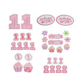 Набор для декорирования праздника «День рождения», для девочки, 30 предметов