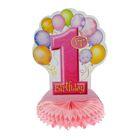 """Украшение для стола """"Мой первый день рождения"""", цвет розовый"""