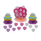 """Бумажное украшение для стола """"С рождением малышки"""", тортики, набор 3 шт. + сердечки"""