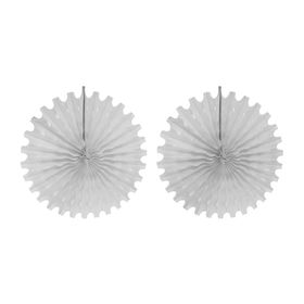 Подвески бумажные «Колёсико», набор 2 шт., цвет белый, d=50 см