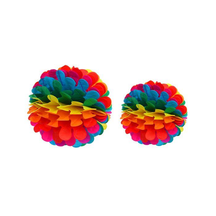 Подвески бумажные «Радужный одуванчик», набор 2 шт., d=30 см, 25 см
