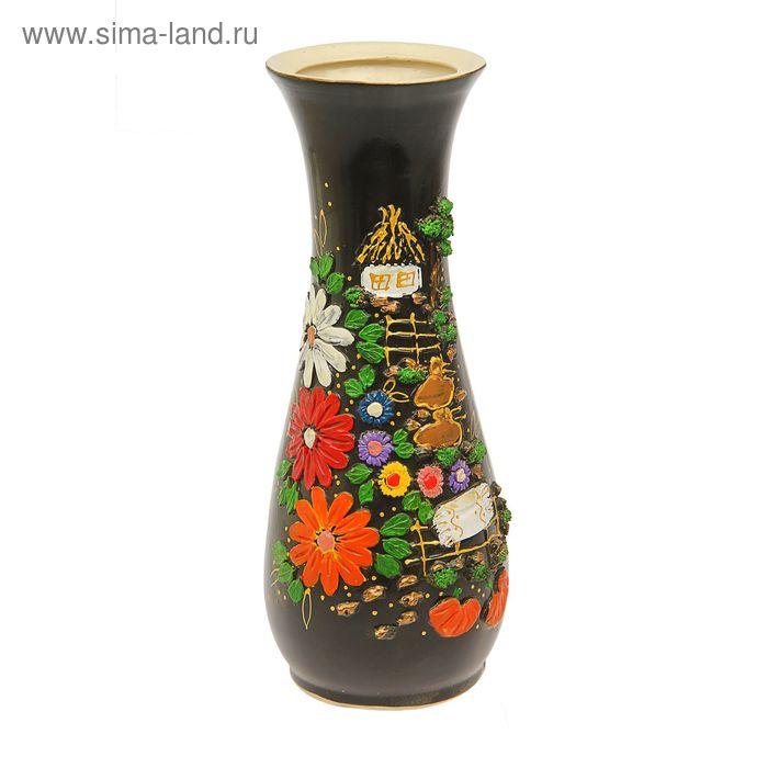 """Ваза напольная """"Осень"""" деревенька"""