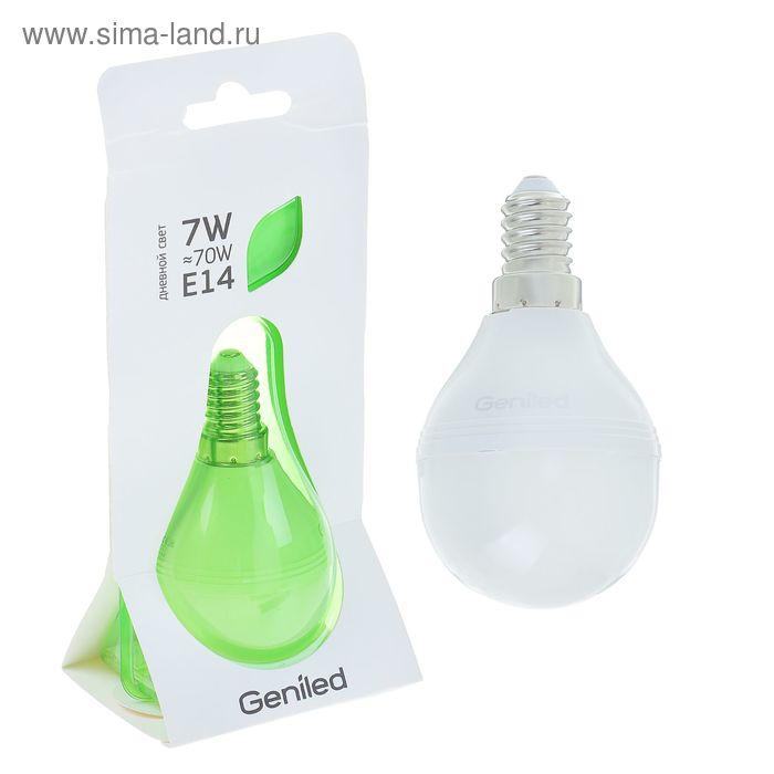 Лампа светодиодная Geniled, E14, G45, 7 Вт, 4200 К, матовая  дневной свет