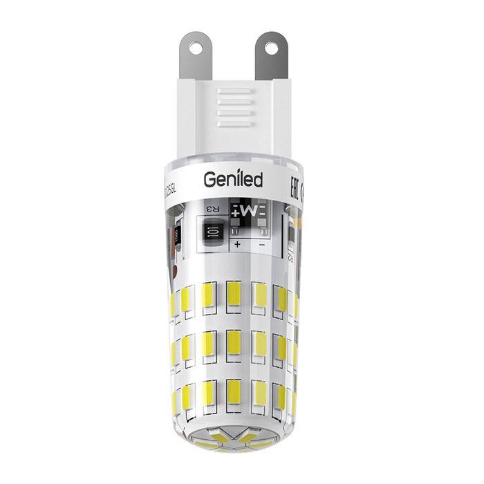 Лампа светодиодная Geniled, G9, 4 Вт, 2700 K  теплый свет