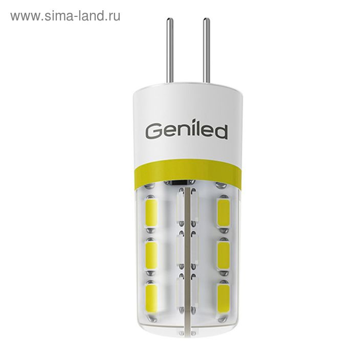 Лампа светодиодная Geniled, G4, 2 Вт, 2700 K  теплый свет