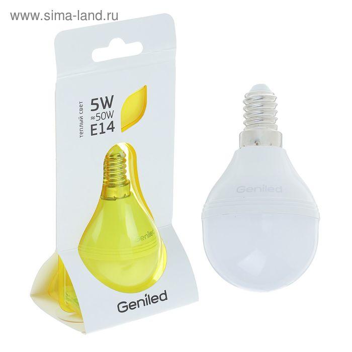 Лампа светодиодная Geniled, E14, G45, 5 Вт, 2700 К, матовая  теплый свет