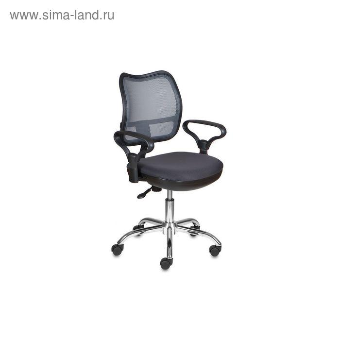 Кресло CH-799SL/DG/TW-12 спинка сетка темно-серый, сиденье серый