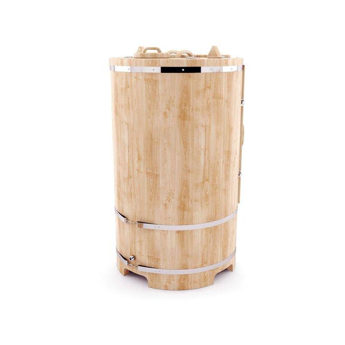 Кедровая фитобочка круглая 130x78, толщина стенки 2,5 см