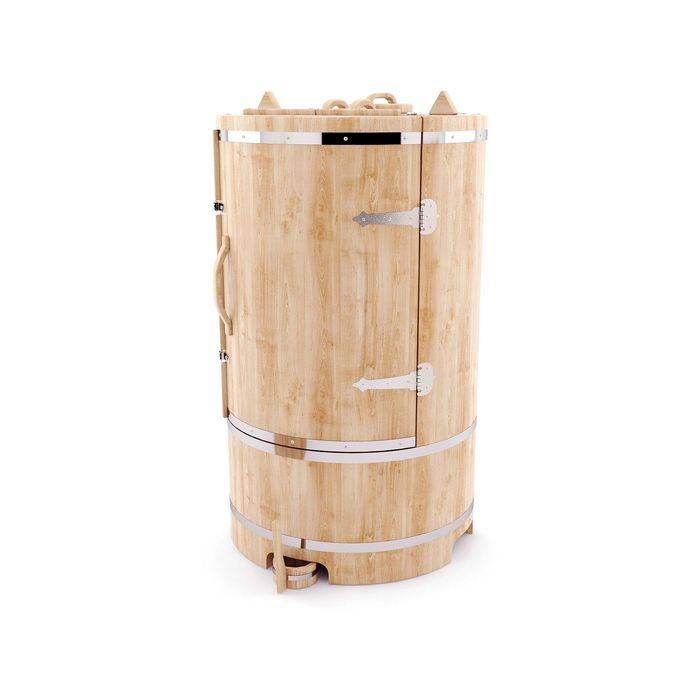 Кедровая фитобочка круглая, 130 x 78 см, толщина стенки 4 см