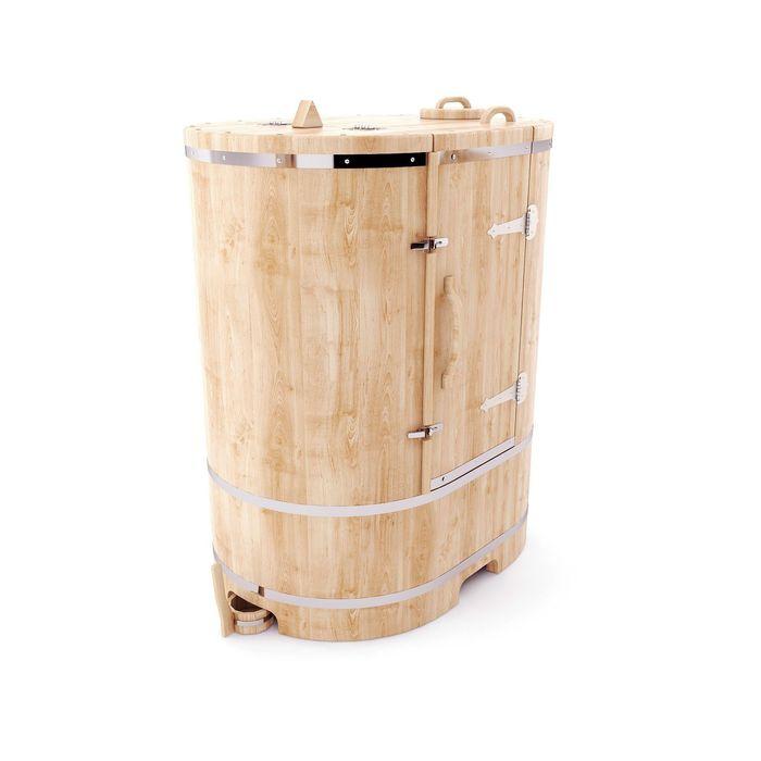 Кедровая фитобочка овальная 130x78x100, толщина стенки 2,5 см