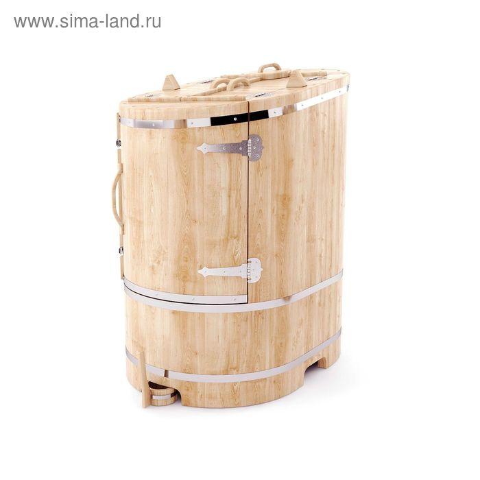 Кедровая фитобочка овальная со скосом 130x78x100, толщина стенки 4 см