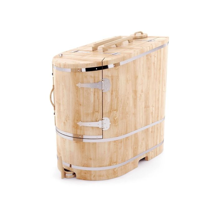 """Кедровая фитобочка овальная полулежачая """"Люкс"""" 115x78x140, толщина стенки 4 см"""
