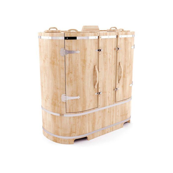 Кедровая фитобочка овальная двухместная 130x78x140, толщина стенки 2,5 см