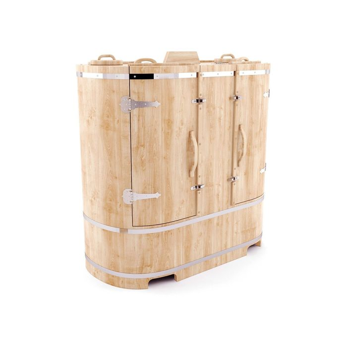 Кедровая фитобочка овальная двухместная 130x78x140, толщина стенки 4 см