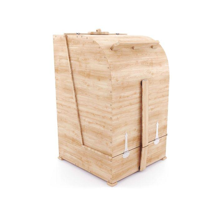 Кедровая фитобочка квадратная 130x84x84, толщина стенки 4 см