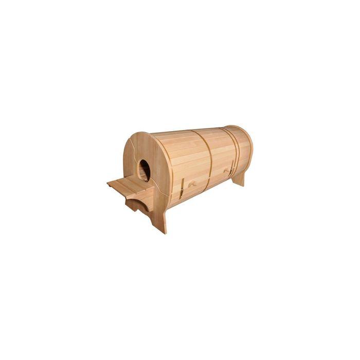 Кедровая фитобочка горизонтальная толщина стенки 2,5 см