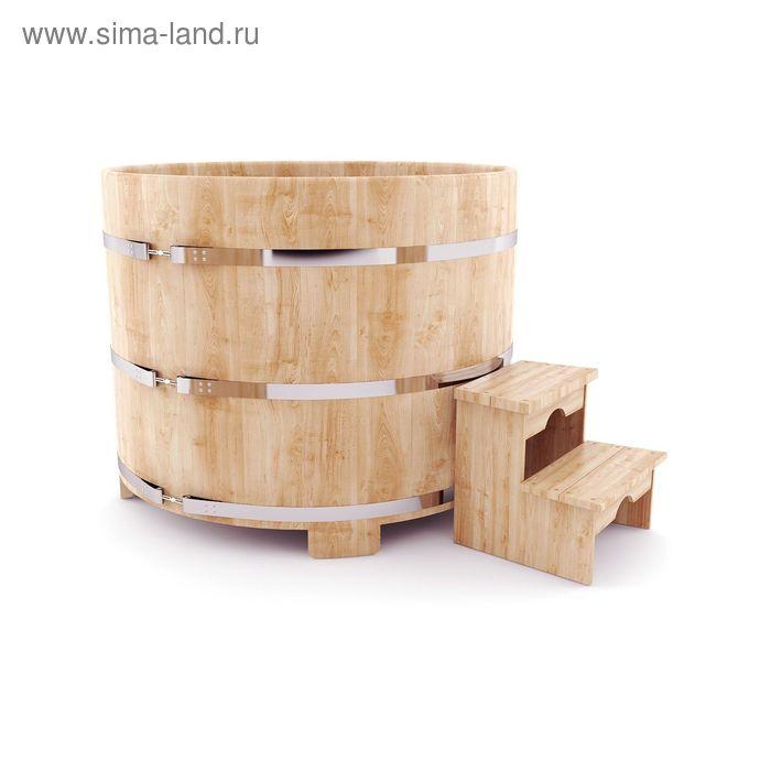 Японская баня Фурако круглая с внешней дровянной печкой, диаметр 200 см