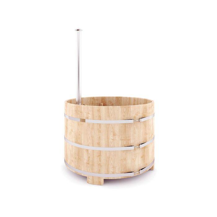 Японская баня Фурако овальная с внутренней дровянной печкой, 120x180 см