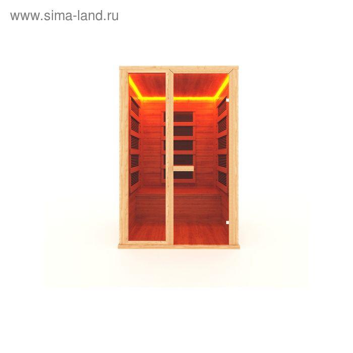 Инфракрасная сауна с пленочным излучателем двухместная 135x105x200