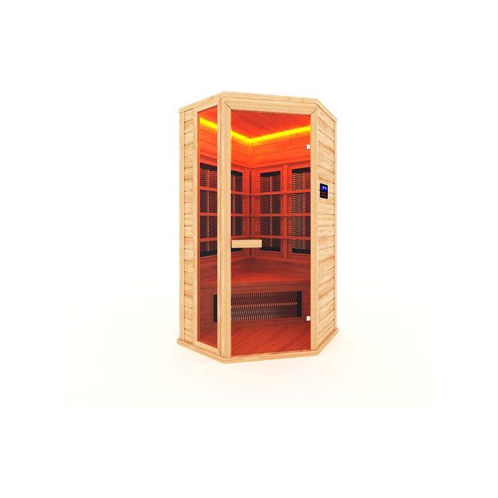 Инфракрасная сауна с керамическим излучателем одноместная 115x105x200