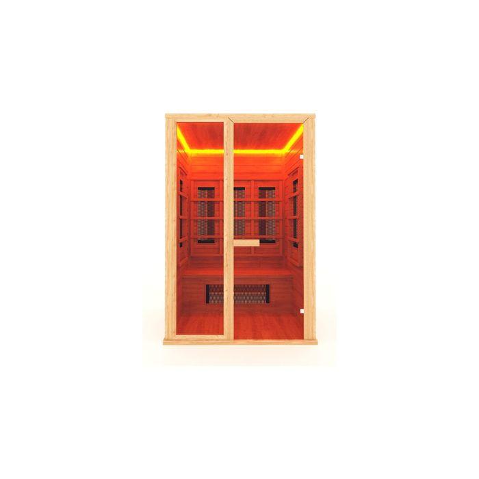 Инфракрасная сауна с керамическим излучателем двухместная 135x105x200