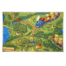 Палас «Малиновка», 200х350 см, зелёный