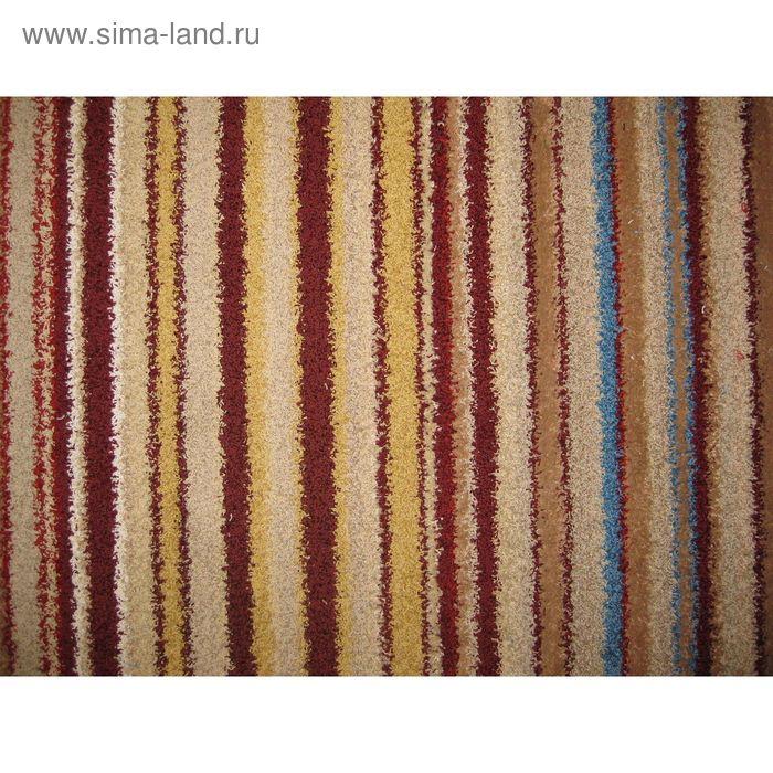 Ковёр фризе Мехико, размер 133х180 см, цвет красный, войлок 200 г/м2