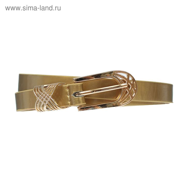 """Ремень женский """"Сюзанна"""", пряжка-хомут под золото, ширина - 1,5см, цвет золотистый"""