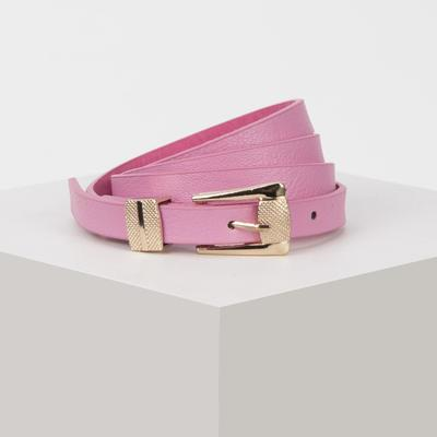 Strap feminine charm, the buckle, clamp in gold, width - 1.5 cm, pink