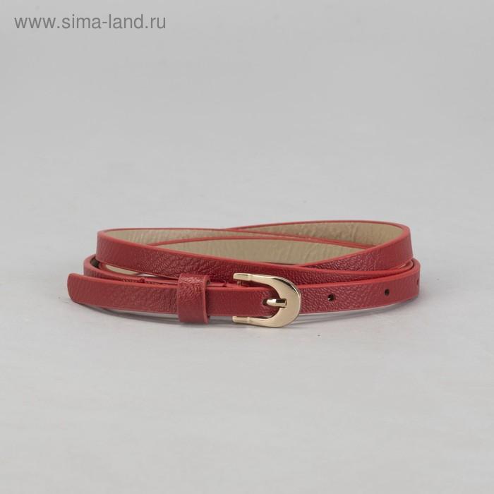 """Ремень женский """"Скромность"""", пряжка под золото, ширина - 1см, красный"""
