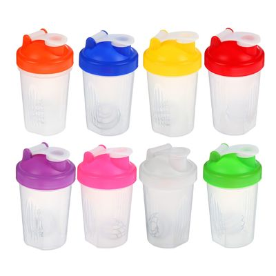 Shaker 400 ml, with bulb, mix, 9х17 cm