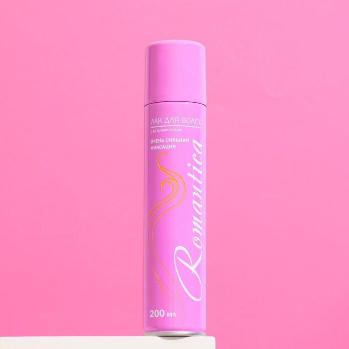 """Лак для волос """"Романтика"""" очень сильная фиксация с В-каротином, 200 мл"""
