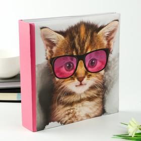 """Фотоальбом на 200 фото 10х15 см """"Котёнок в очках"""""""