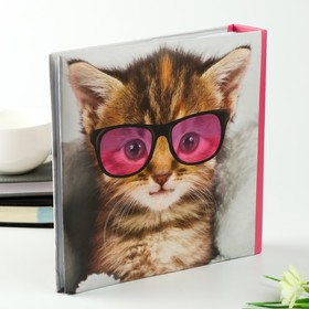 "Photo album for 200 photos 10x15 cm ""Kitten glasses"""