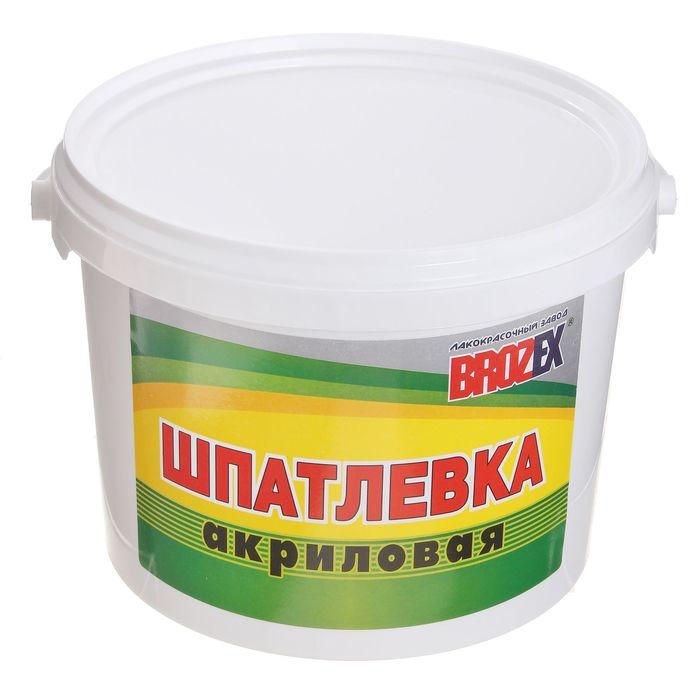 Шпатлёвка акриловая Brozex, 3 кг