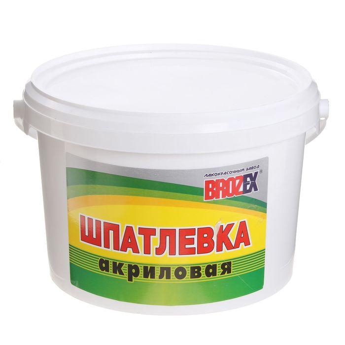 Шпатлёвка акриловая Brozex, 5 кг