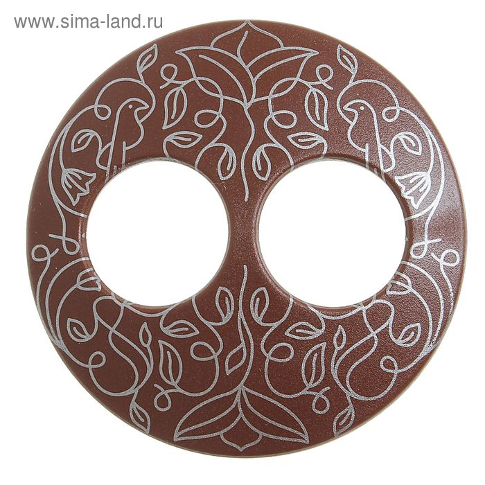 """Волшебная пуговица """"Матовая дизайн"""", круг, цвет коричневый в серебре"""
