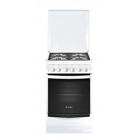 Плита Gefest 5100-02, газовая, 4 конфорки, 52 л, газовая духовка, белая