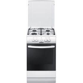 Плита газовая Hansa FCMW53140, 4 конфорки, 67 л, электрическая духовка, белая