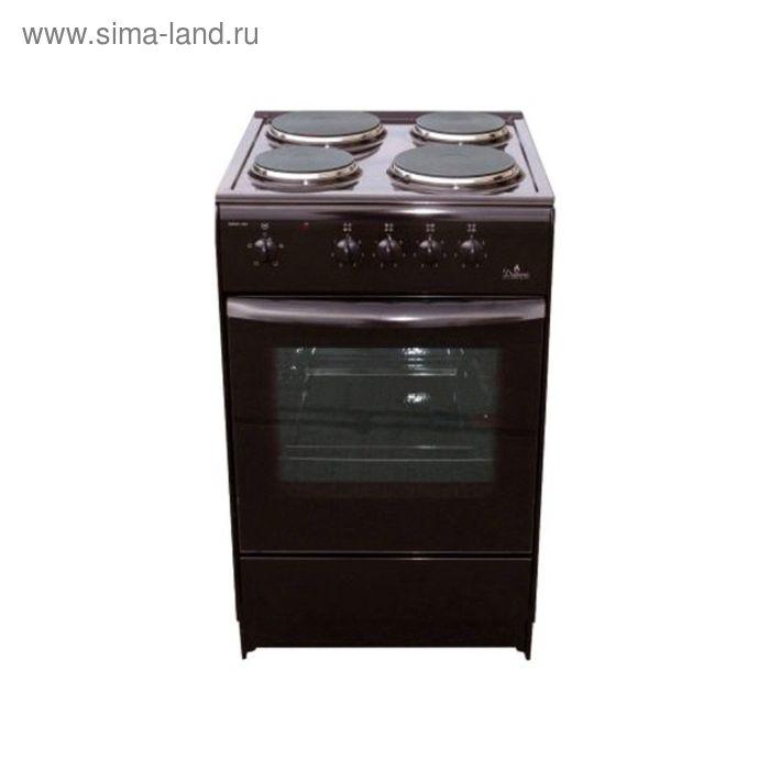 Плита электрическая Darina S EM 341 404 Вt, 4 конф., 47 л, эмаль, без гриля, черная