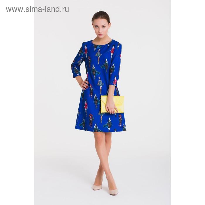 Платье 4907, размер 44, рост 164 см, цвет синий