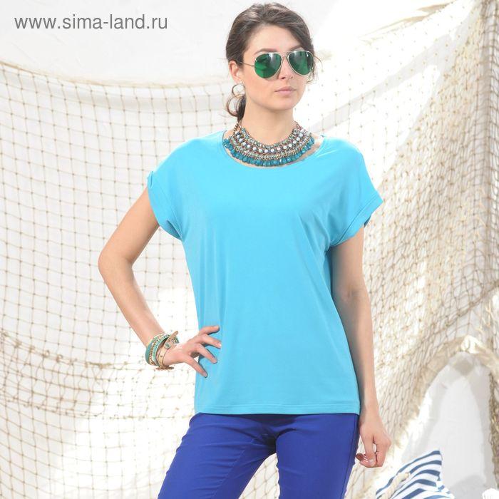 Блуза 4974а, размер 46, рост 164 см, цвет голубой