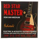 Струны  RED STAR MASTER  ( .009 - .042, навивка - нерж. сплав на круглом керне)