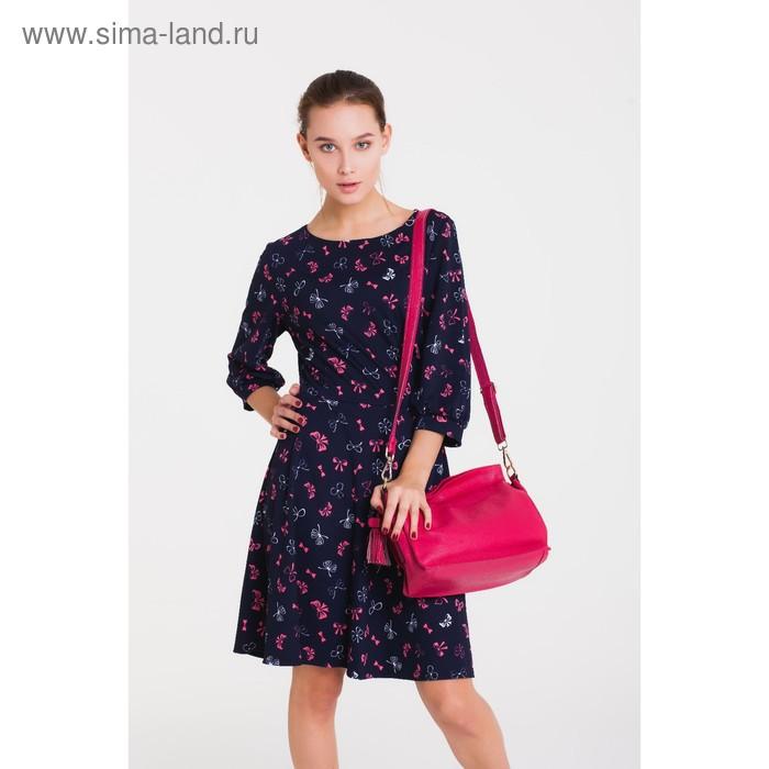 Платье 4905, размер 48, рост 164 см, цвет т.синий/розовый